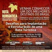 Colegiado de Turismo da AMREC promove palestra para fomentar rota regional