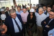 Governador e ministros vistoriam obras do Centro de Eventos de Balneário Camboriú