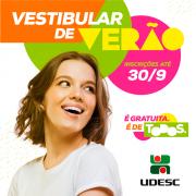Inscrições para o Vestibular de Verão 2019 da Udesc terminam na noite de domingo