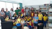 Crianças aprendem e se divertem no bairro Vila Nova