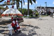 Decoração está sendo finalizada para abertura do 2º Natal Encantado de Jacinto Machado