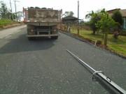 Serviços de aplicação de base na Rodovia Juvenal José Silvano são concluídos