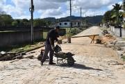 Obras de revitalização da Rua 6 continuam em ritmo acelerado em Siderópolis
