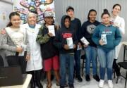 Crianças e adolescentes do SCFV e do CRAS de Siderópolis recebem orientações sobre saúde bucal