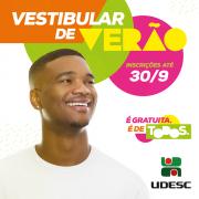 Udesc encerra inscrições do Vestibular de Verão 2019 no próximo domingo