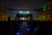 Pedagogia Unesc realiza apresentação teatral e auxilia escola na montagem de uma brinquedoteca