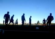 Intenso treino técnico no Centro de Treinamento do Tigre