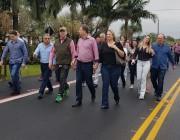 Deputado Federal Ronaldo Benedet inaugura rodovia em Içara