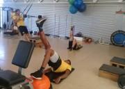 Atividade física na academia do Centro de Treinamento
