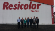Comitiva da Fiesc Sul visita a empresa Resicolor