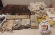 PM de Arroio do Silva apreende grande quantidade de drogas