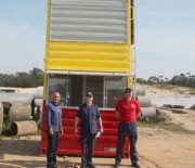 Balneário Rincão recebe primeiro contêiner para guarda-vidas