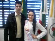 Miss Mercosul Caminho dos Canyons visita à Câmara