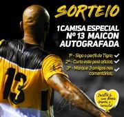 Tigre sorteia camisa especial do Maicon nas redes sociais