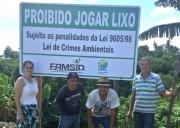 Placas são colocadas para conscientizar a população de Siderópolis