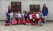 Através da história A Bela e a Fera, crianças do CEI Afasc Pequeno Polegar criam jardim suspenso