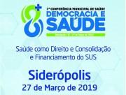 Conferência de Saúde de Siderópolis será na quarta-feira