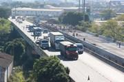 BR-101 tem estreitamento de pista na cidade de Tubarão