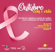 Cooperaliança realizará dia de cuidados com a saúde feminina