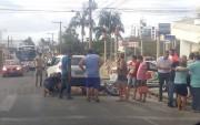 Acidente com motociclista na Rua Vitória dificulta trânsito