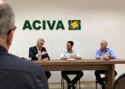 Aciva recebe visita de Sergio Rodrigues, novo Presidente da Facisc