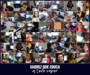 A equipe de xadrez de Içara mantém rotina de treinamento e torneios na web