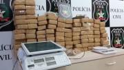 Polícia Civil recolhe R$ 100 mil em drogas