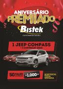 Aniversário Bistek: promoção irá sortear quatro carros e vale-compras aos clientes