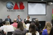 OAB Criciúma promove debate sobre a Reforma Trabalhista