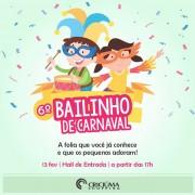 Diversão para pais e filhos no Bailinho de Carnaval