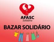 Bazar promovido pela Afasc Solidária promete movimentar o sábado