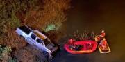Motorista morre ao cair com veículo com placas de Içara no Rio Araranguá