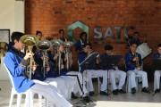 Banda Marcial da Satc traz mensagem de carinho por meio de música