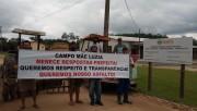 Comunidade de Campo Mãe Luzia faz nova manifestação sobre paralisação do asfalto
