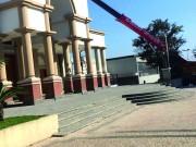 Igreja passa por manutenção para a Festa de São Donato