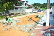 Presidiários estão fazendo a restauração da Natal Tassi