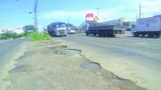 Acostamento da Rodovia SC-445 está em péssimas condições