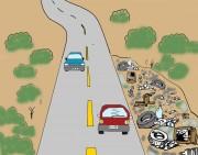 Sem fiscalização  crescem os lixões nas estradas