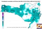 Entenda por que o volume de chuva está acima do normal em Santa Catarina