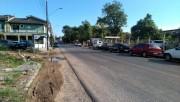 Transito bloqueado na Rua Maximiliano Gaidzinski em Cocal do Sul