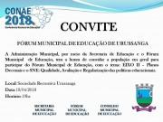 Fórum Municipal de Educação será realizado em Urussanga