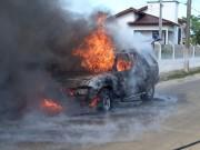 Incêndio destrói veículo no Município de Balneário Rincão