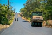 Içara: ICR-460 em Novo Caravaggio recebe capa asfáltica