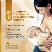 III Congresso Catarinense de Aleitamento Materno abre inscrições