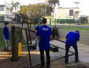 Acadêmicos de Engenharia Mecânica da Satc constroem traves