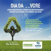Comemoração do Dia da Árvore terá doação de mudas em Içara