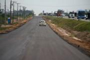 DNIT/SC alerta para risco do tráfego de veículos por via lindeira em construção