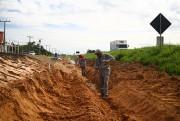 DNIT/SC inicia sarjetas para evitar erosão, nas Obras Complementares da BR-101