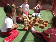 CEI Afasc Gerda Becke Machado proporciona atividade com materiais da natureza