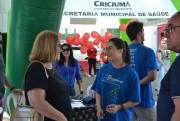 Unesc promove conscientização sobre o AVC na praça Nereu Ramos
